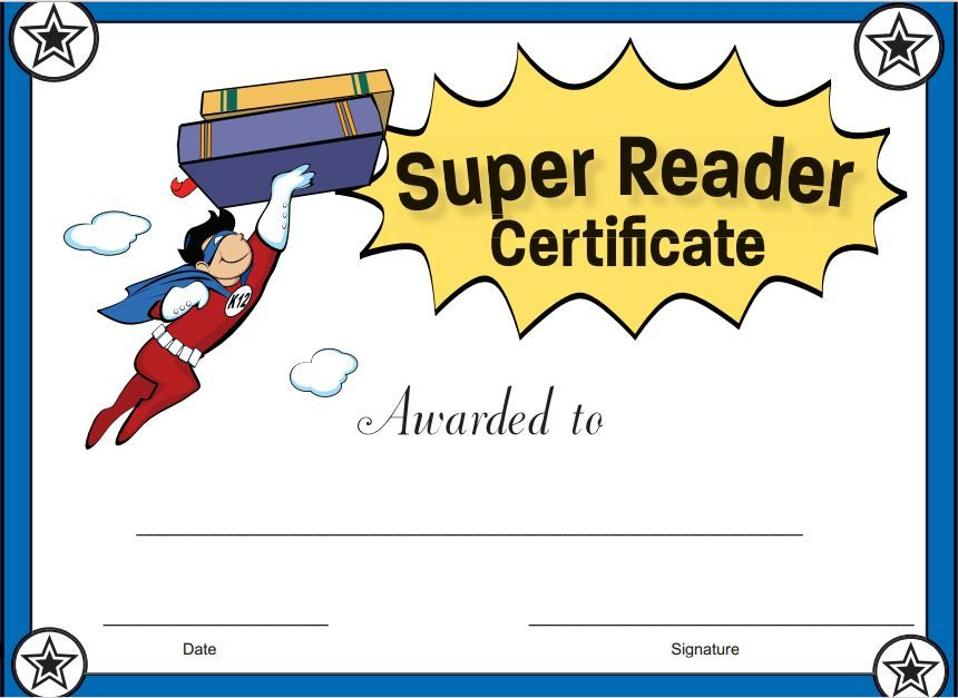 Pinready Teacher On Kinderland Collaborative   Reading Intended For Super Reader Certificate Templates