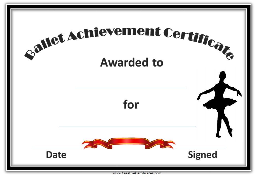 Pinsarah Collins On Glam In 2020 | Certificate Templates Throughout Ballet Certificate Template