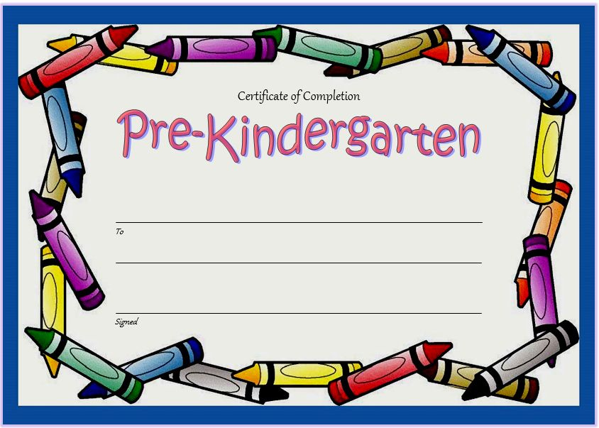 Pre K Certificate Templates Beautiful 10 Free Editable Pre K intended for Best 10 Free Editable Pre K Graduation Certificates Word Pdf