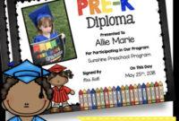 Pre-K Diplomas – Editable – Chalkboard – Prek – Pk Certificates Graduation inside Editable Pre K Graduation Certificates