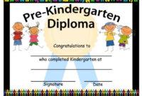 Pre-Kindergarten Graduation Diplomas Blank Graduation   Etsy pertaining to Best Pre Kindergarten Diplomas Templates Printable Free