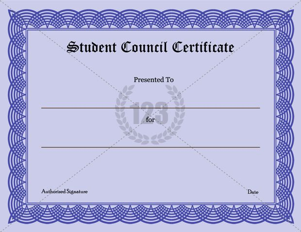Precious Student Council Certificate Download 123Certificate For Fresh Student Council Certificate Template Free