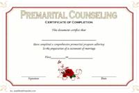 Premarital Counseling Certificate Of Completion Template (3 for Marriage Counseling Certificate Template