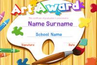 Premium Vector | Certificate Template For Art Award With regarding Best Free Art Award Certificate Templates Editable