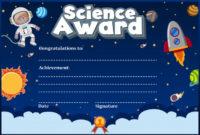Premium Vector | Certificate Template For Science Award With for Science Achievement Certificate Template Ideas