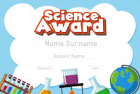 Premium Vector | Certificate Template For Science Award With inside Unique Science Award Certificate Templates