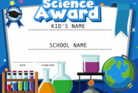 Premium Vector | Certificate Template For Science Award With with regard to Unique Science Award Certificate Templates