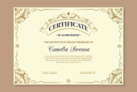 Premium Vector | Elegant Award Certificate Template with regard to Unique Winner Certificate Template