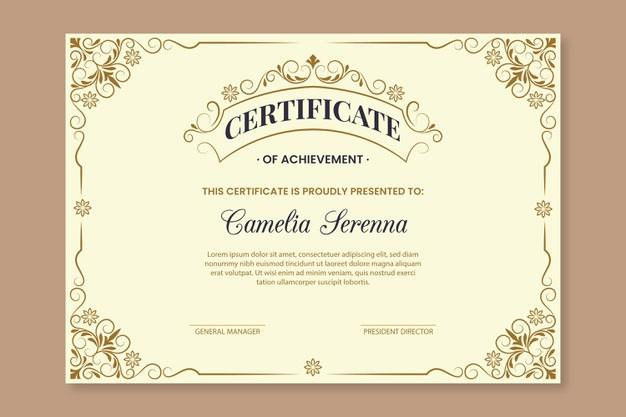 Premium Vector | Elegant Award Certificate Template With Regard To Unique Winner Certificate Template