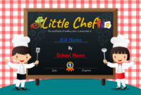 Premium Vector | Little Chef Cooking Class Diploma Certificate for Certificate Of Cooking 7 Template Choices Free