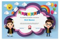 Premium Vector | Preschool Kids Diploma Certificate Template regarding Unique Kindergarten Diploma Certificate Templates 10 Designs Free