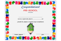 Preschool Award Certificate Template Free 2 | Graduation in Best Baby Shower Winner Certificate Template 7 Ideas