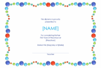 Preschool Certificate Template | Graduation Certificate with regard to Daycare Diploma Template Free