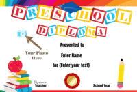 Preschool Certificates in Fresh Certificate For Pre K Graduation Template