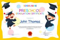 Preschool Graduation Certificate Template Free In 2020 intended for Preschool Graduation Certificate Template Free