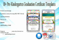 Preschool Graduation Certificate Templates New 10 Free within Best 10 Free Editable Pre K Graduation Certificates Word Pdf