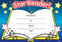 Print Accelerated Reading Certificate | Star Reader for Fresh Super Reader Certificate Template