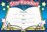 Print Accelerated Reading Certificate | Star Reader regarding Unique Reader Award Certificate Templates