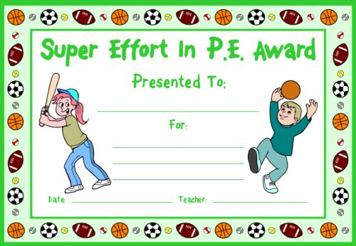 Printable Aports Award Certificate Template Doc Docs Msword Throughout Physical Education Certificate Template Editable