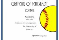 Printable Award   Softball Awards, Certificate Templates in Best Free Softball Certificates Printable 10 Designs