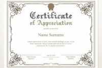 Printable Certificate Of Appreciation, Editable Certificate Template,  Printable Appreciation Certificate, Elegant, Instant Download with Editable Certificate Of Appreciation Templates