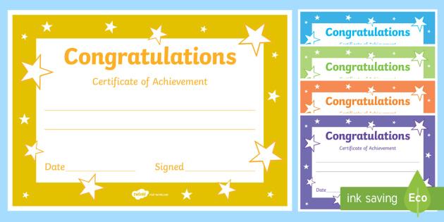 Printable Congratulations Certificate Template Inside Superlative Certificate Template