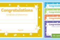 Printable Congratulations Certificate Template with regard to Best Congratulations Certificate Template 10 Awards