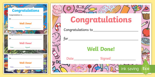 Printable Congratulations Certificate Template With Regard To Best Job Well Done Certificate Template 8 Funny Concepts