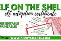 Printable Elf Adoption Certificate – Kiddycharts in Unique Elf Adoption Certificate Free Printable