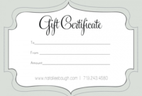 Printable Fillable Gift Certificate Template Custom pertaining to Holiday Gift Certificate Template Free 10 Designs