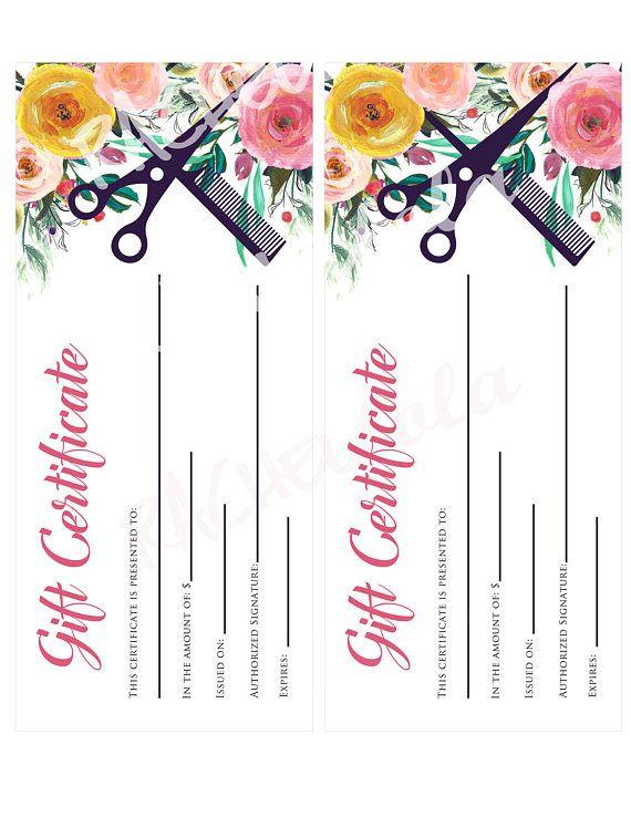 Printable Hair Salon Gift Certificate Template Hair Stylist Regarding Best Free Printable Hair Salon Gift Certificate Template