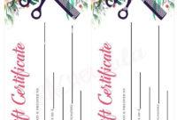 Printable Hair Salon Gift Certificate Template Hair Stylist within Beauty Salon Gift Certificate