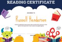 Printable Monster Reading Award Certificate Template intended for Fresh Reading Certificate Template Free