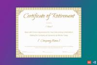 Printable Retirement Certificate For Teacher – Gct for Fresh Retirement Certificate Templates