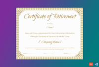 Printable Retirement Certificate For Teacher – Gct intended for Unique Free Retirement Certificate Templates For Word