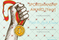 Printable Sportsmanship Award Certificate – Pdf,Doc Format with regard to Sportsmanship Certificate Template