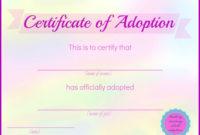 Printable Stuffed Animal Adoption Certificates | Adoption for Stuffed Animal Birth Certificate Templates
