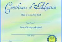Printable Stuffed Animal Adoption Certificates | Adoption regarding Fresh Stuffed Animal Birth Certificate Templates