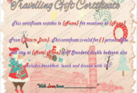 Printable Travel Gift Certificate Template – Word Pdf Psd pertaining to Travel Gift Certificate Templates