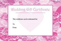 Printable Wedding Gift Certificates | Lovetoknow within Wedding Gift Certificate Template