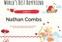 Printable Worlds Best Boyfriend Award Certificate Template intended for Best Best Boyfriend Certificate Template