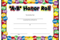 Printed Certificates, Find A Printed Certificate At throughout Honor Roll Certificate Template Free 7 Ideas