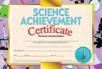 Printer-Compatible Certificates & Awards, Science for Unique Science Achievement Certificate Template Ideas