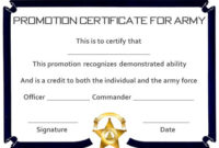 Promotion Certificate Template : 20+ Free Templates For inside Unique Job Promotion Certificate Template Free