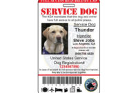 Ptsd Service Dog Id Card Ada Tag Badge Professional Custom within Best Service Dog Certificate Template Free 7 Designs