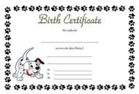 Puppy Birth Certificate Free Printable 5 In 2020 | Birth regarding Pet Birth Certificate Template