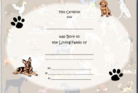 Puppy Birth Certificate Template Free Unique 85 Best Raisin regarding Dog Birth Certificate Template Editable