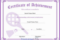 Purple Heart, Pink Lace And Trendy Pink Badminton throughout Best Badminton Certificate Template