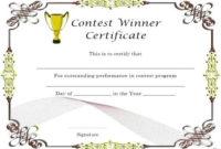 Quiz Winner Certificate Template Seven Ways On How To Get inside Contest Winner Certificate Template