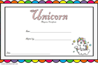 Rainbow Unicorn Adoption Certificate Free Printable (2Nd inside Best Unicorn Adoption Certificate Templates